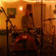 Sean helping me check the drums