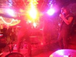 On stage at Strange Matter